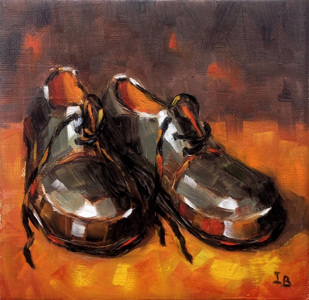"""New Shoes"" original fine art by Irina Beskina"