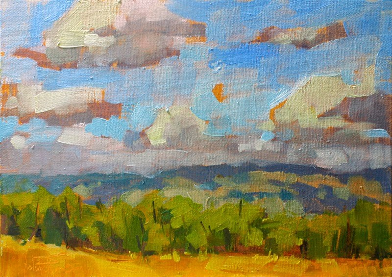 """""""Fast and Loose Foothills"""" original fine art by Melanie Thompson"""
