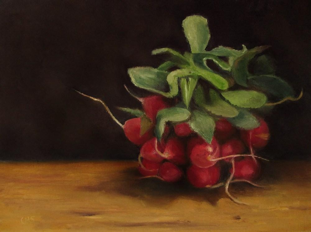 """""""Radish"""" original fine art by Ulrike Miesen-Schuermann"""