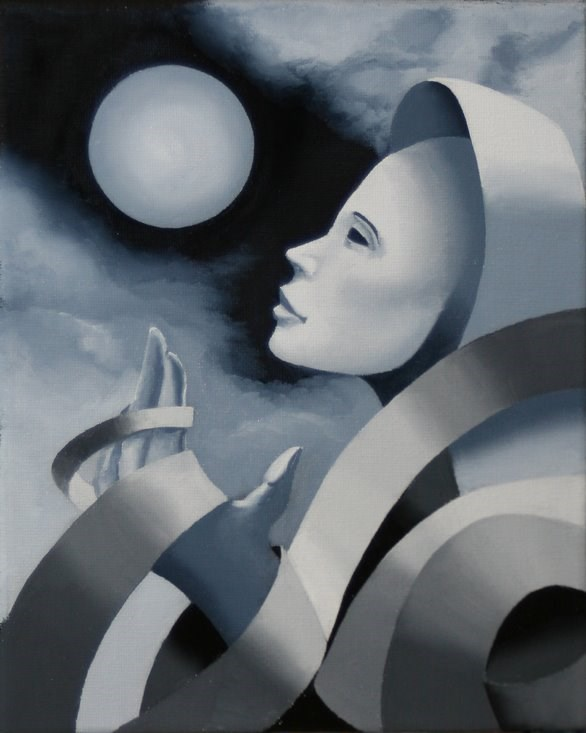 """""""Mark Webster - Gray Matter #3 - Abstract Grayscale Oil Painting"""" original fine art by Mark Webster"""