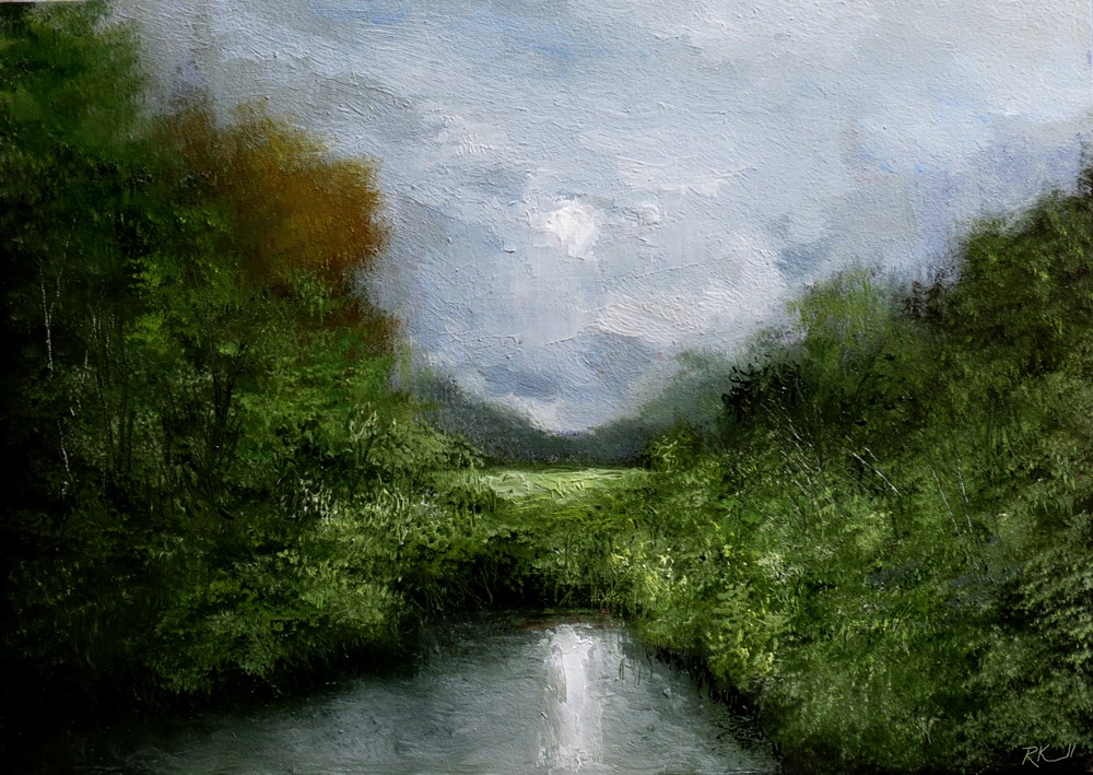 """The Hidden Pond"" original fine art by Bob Kimball"