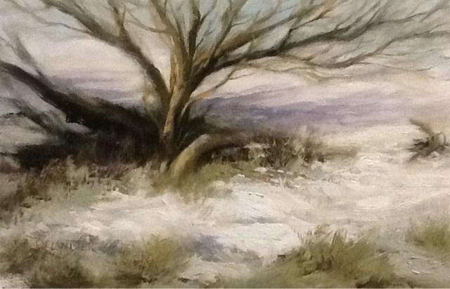 """Fallen Tree"" original fine art by Diana Delander"