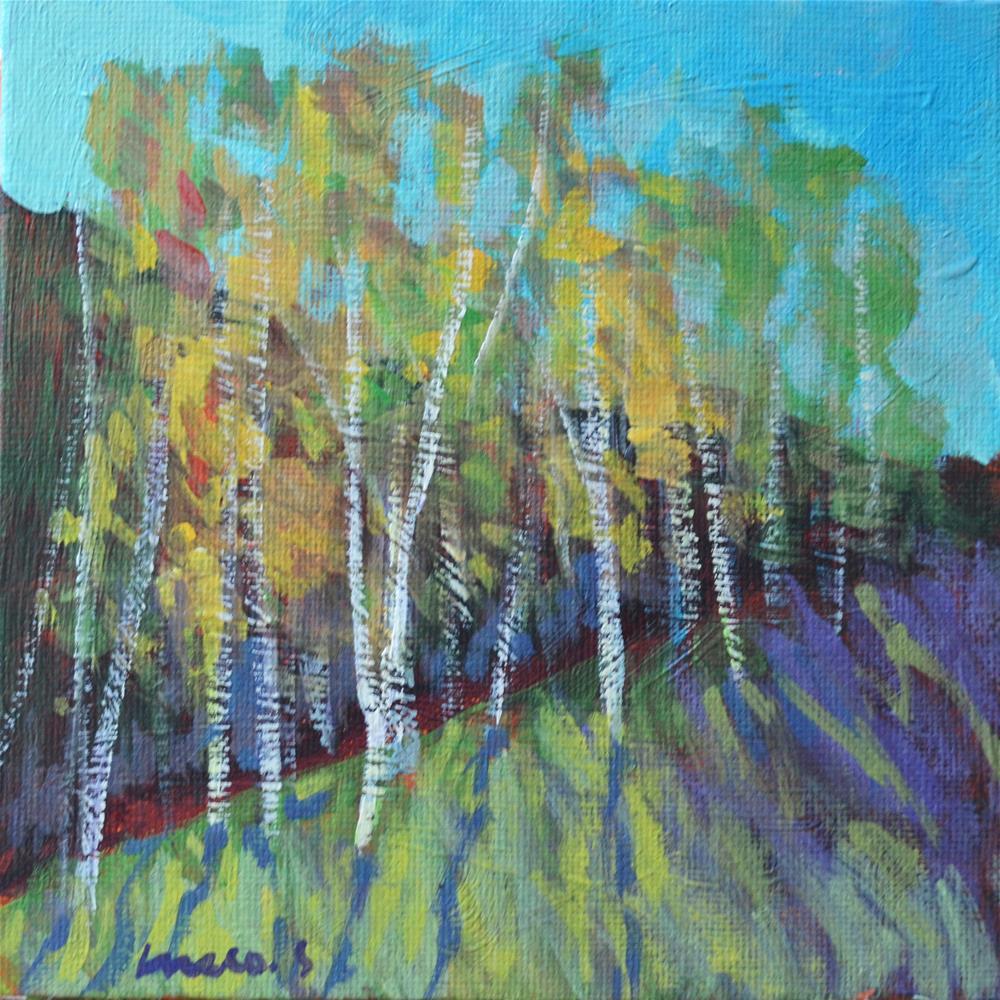 """""""Birches"""" original fine art by salvatore greco"""
