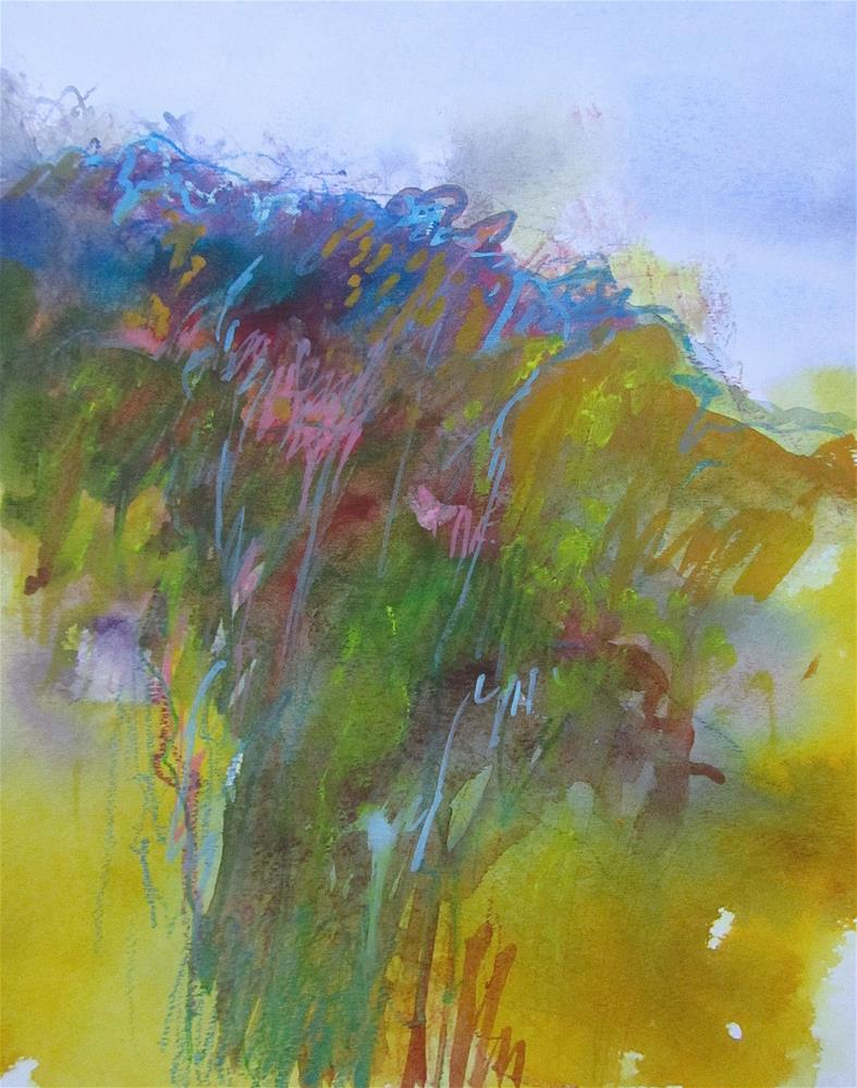 """Hillside"" original fine art by Patricia MacDonald"