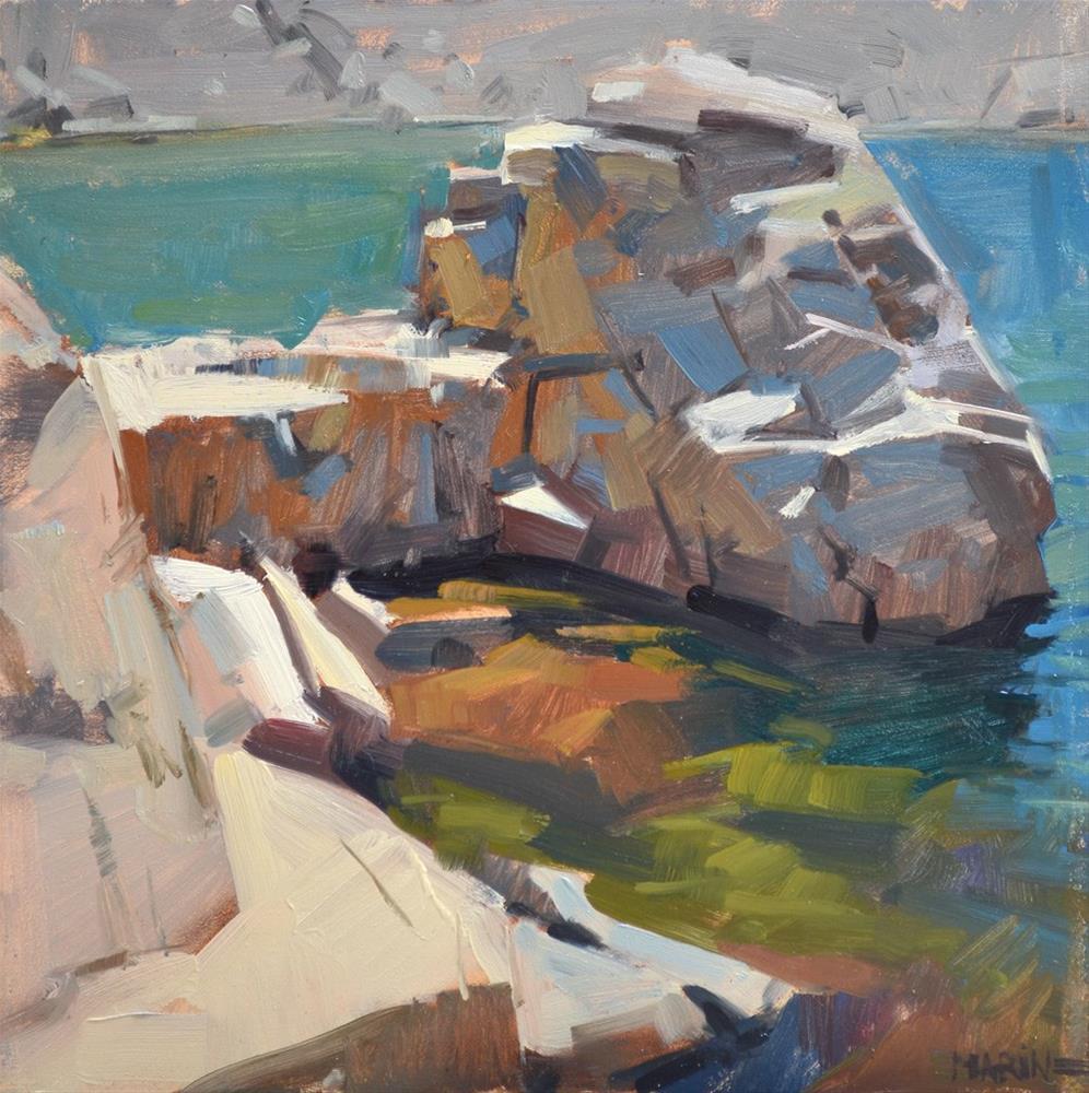 """Not An Island"" original fine art by Carol Marine"