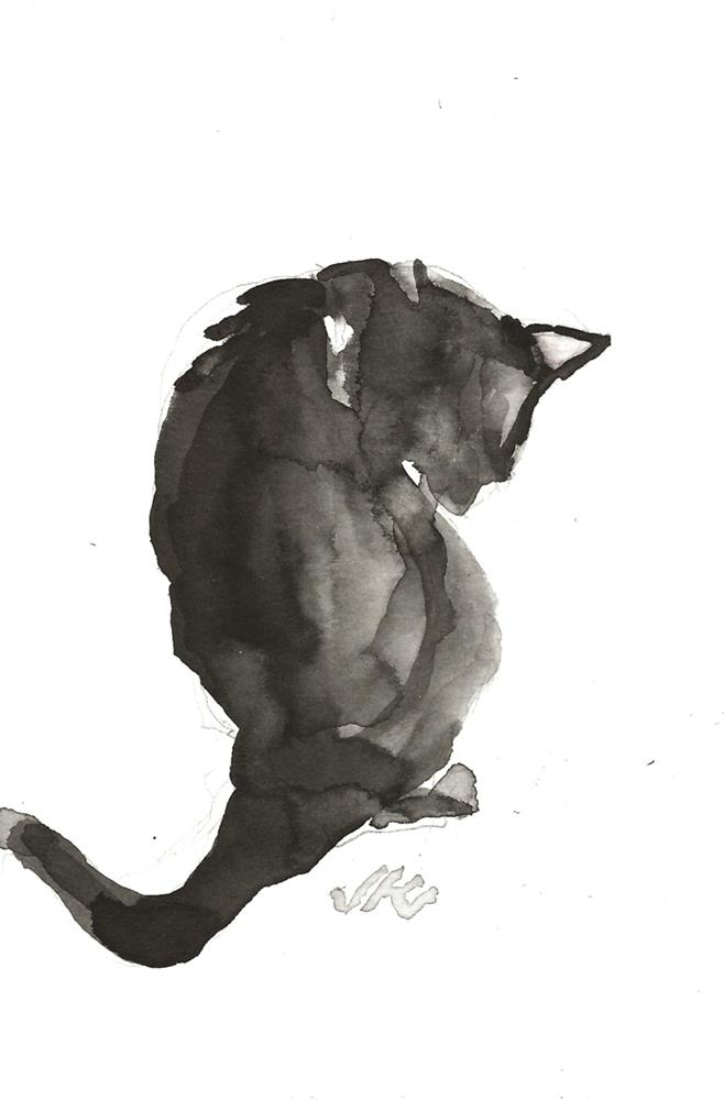 """Daily Cat 92"" original fine art by Jean Krueger"