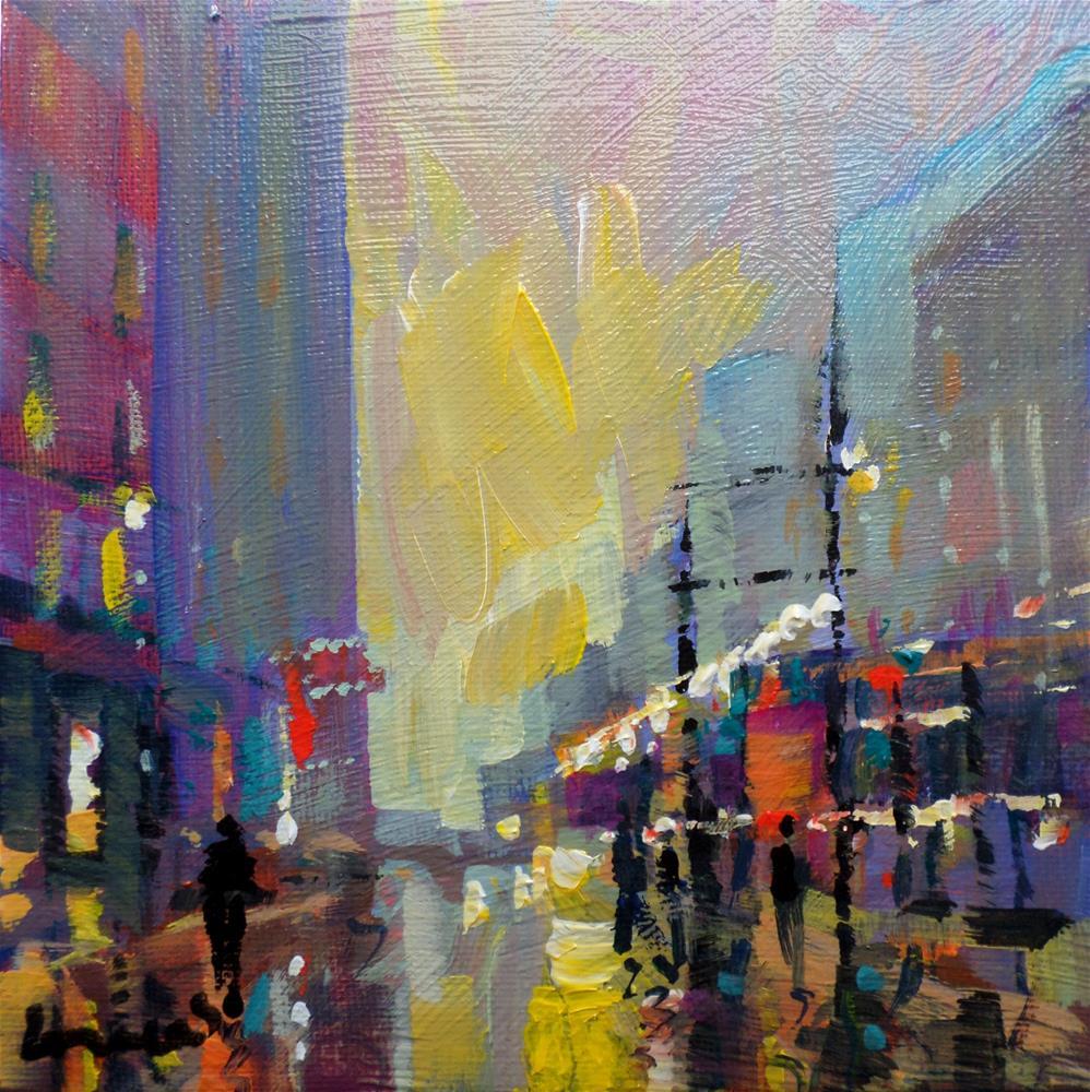 """New york"" original fine art by salvatore greco"