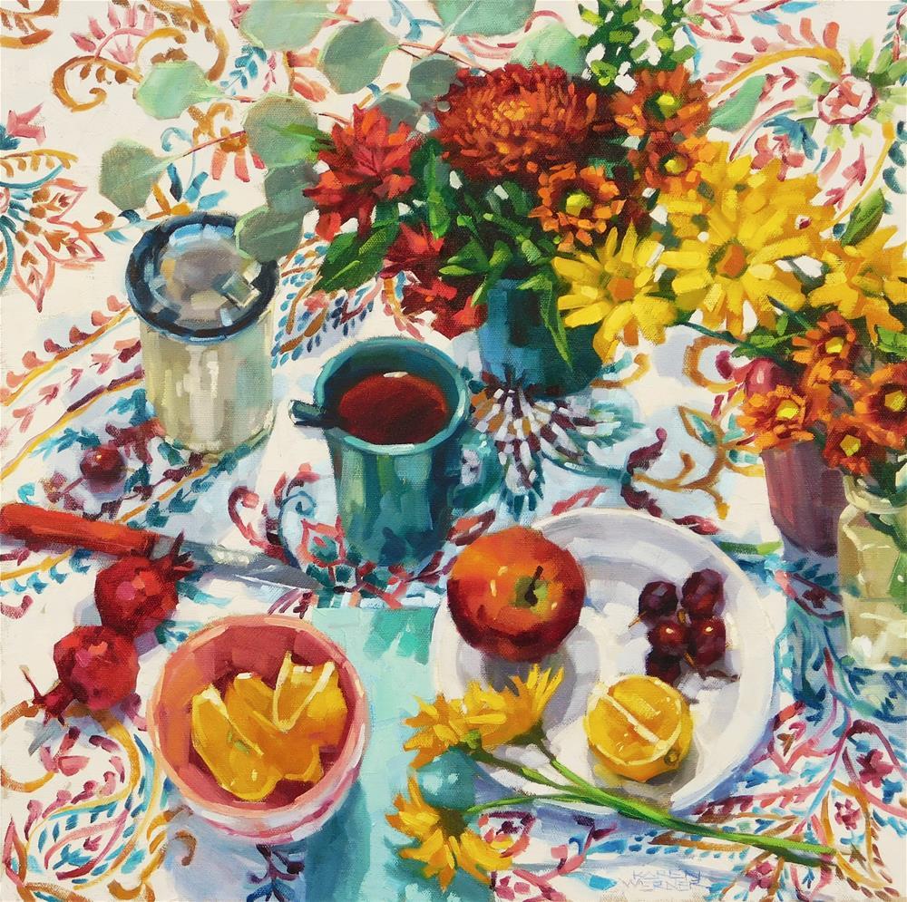 """""""Autumn Patterns"""" original fine art by Karen Werner"""