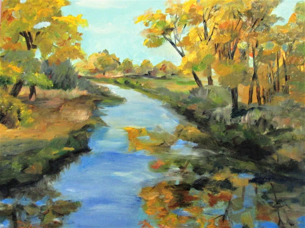 """Joyful Stream"" original fine art by Delilah Smith"