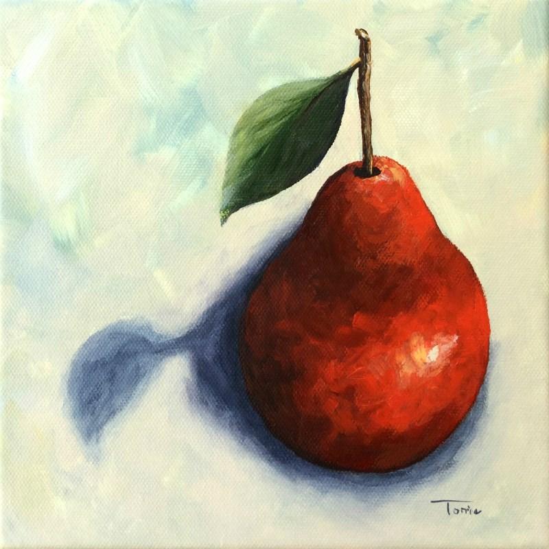 """Red Pear in the Spotlight"" original fine art by Torrie Smiley"