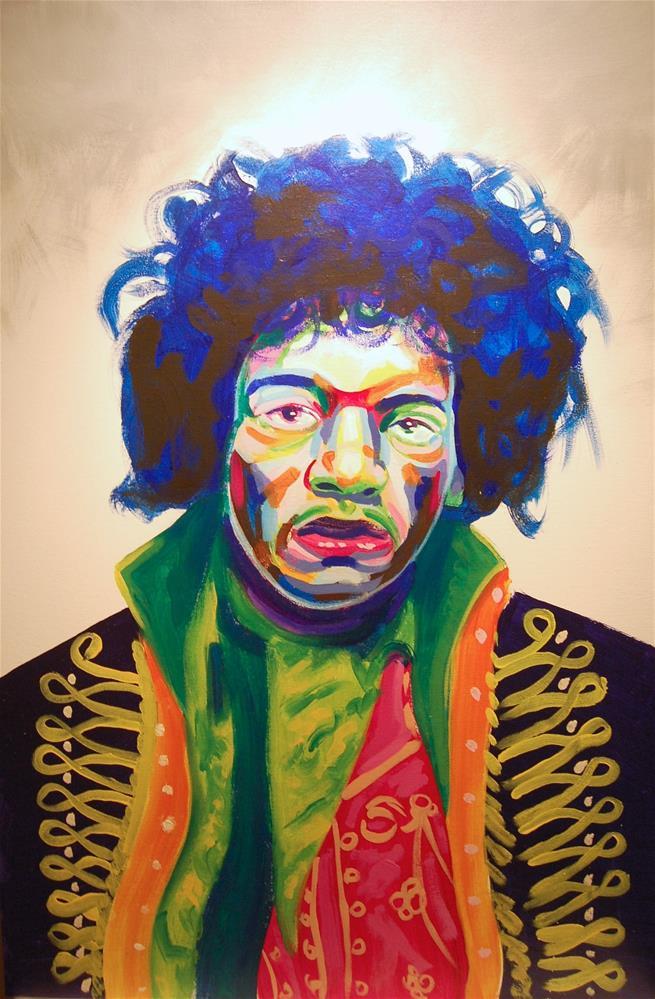 """jimmy hendricks"" original fine art by michael vigneux"