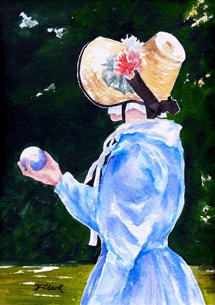 """Play Ball!"" original fine art by Judith Freeman Clark"