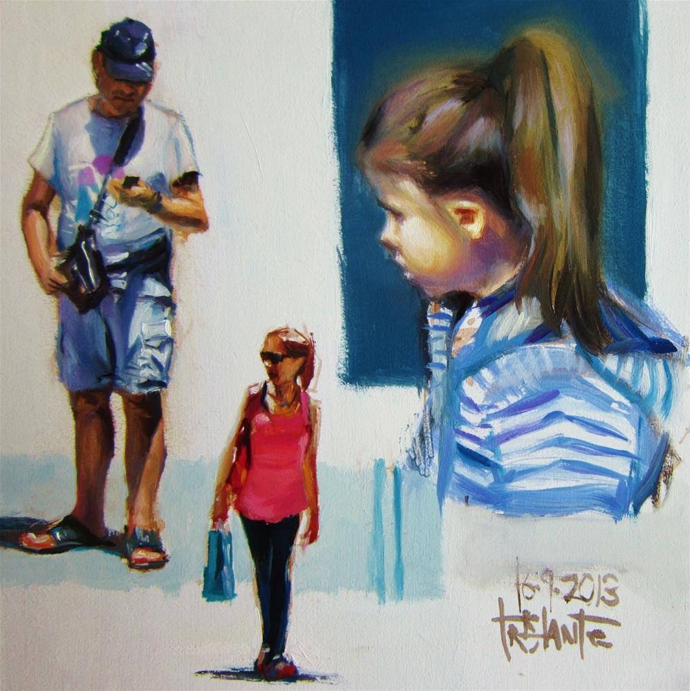 """People composition"" original fine art by Víctor Tristante"