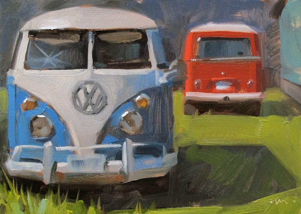"""Old Trippers"" original fine art by Carol Marine"