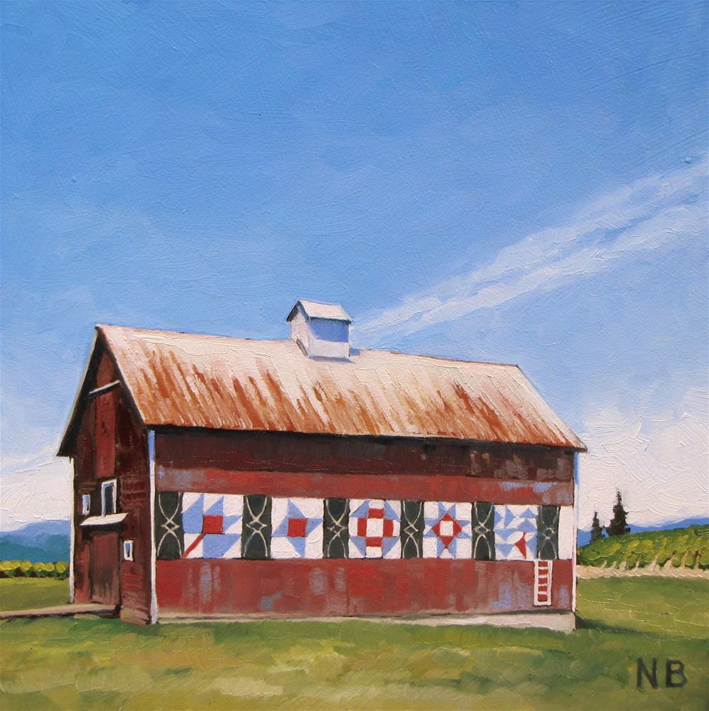"""Block Party"" original fine art by Nora Bergman"