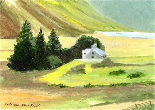 """""""Quiet Country Manor"""" original fine art by Patricia Ann Rizzo"""