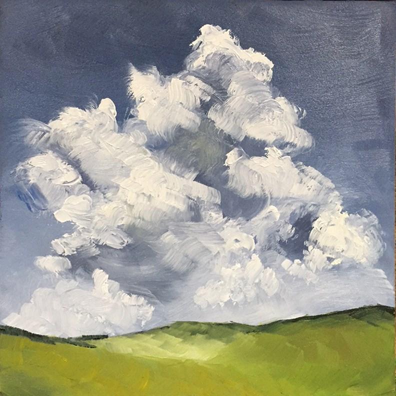 """Clouds 3"" original fine art by Elizabeth Dawn Johnston"