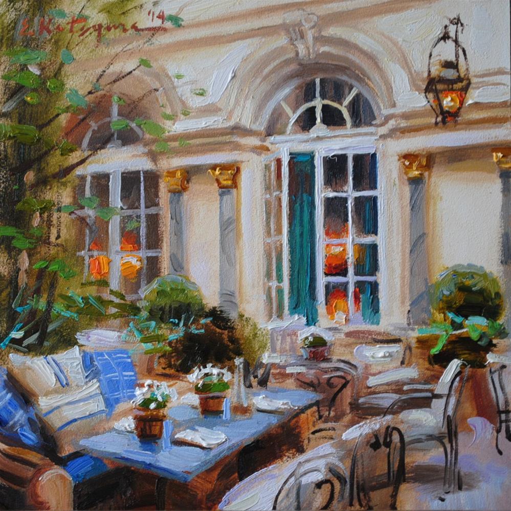 """""""Hotel Courtyard II"""" original fine art by Elena Katsyura"""