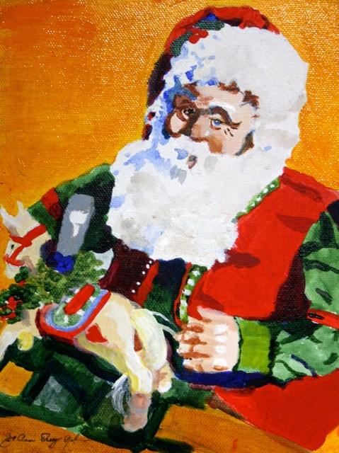 """Santa's Workshop"" original fine art by JoAnne Perez Robinson"
