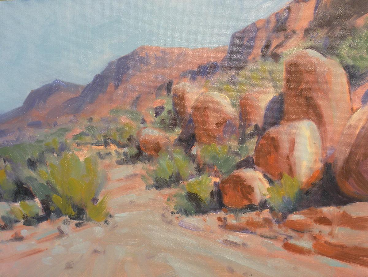 """""""Grapevine Hills"""" original fine art by David Forks"""