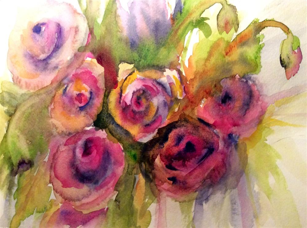 """Roses #2"" original fine art by Molly Rohrscheib Hathaway"