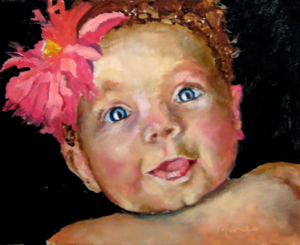 """Sweet Olivia"" original fine art by Marcia Hodges"