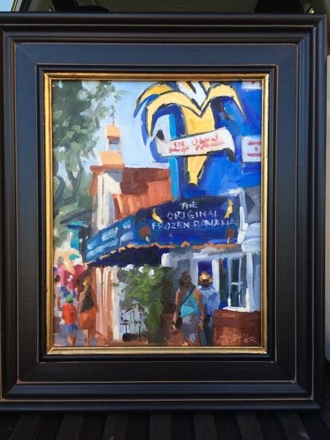 """Paint The Banana!"" original fine art by Karen Werner"