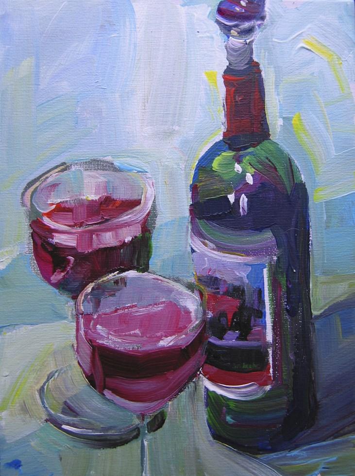 """Merlot"" original fine art by Patti Mollica"