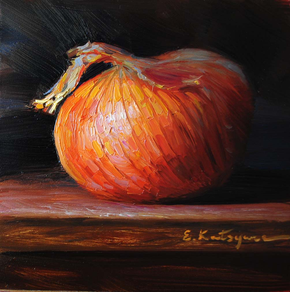 """Onion"" original fine art by Elena Katsyura"