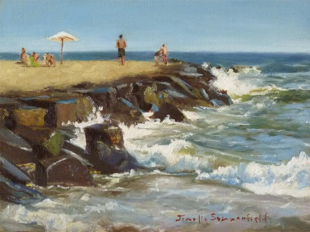 """""""Cape May Jetty"""" original fine art by Jonelle Summerfield"""