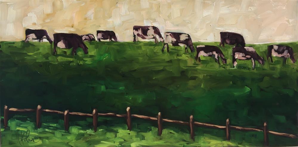 """""""Happy Holsteins"""" original fine art by Hallie Kohn"""