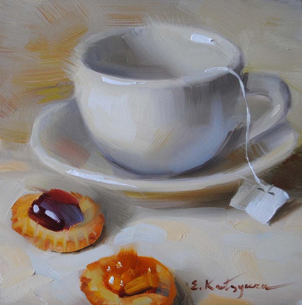 """Morning Tea"" original fine art by Elena Katsyura"