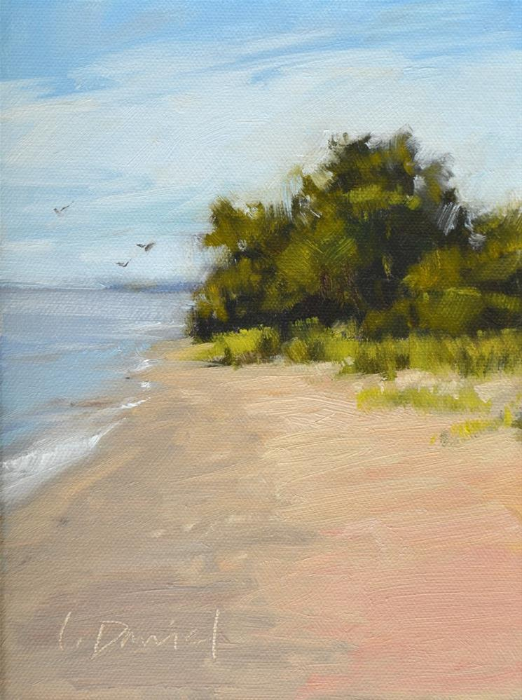 """Wind Point Beach - Racine, Wisconsin"" original fine art by Laurel Daniel"