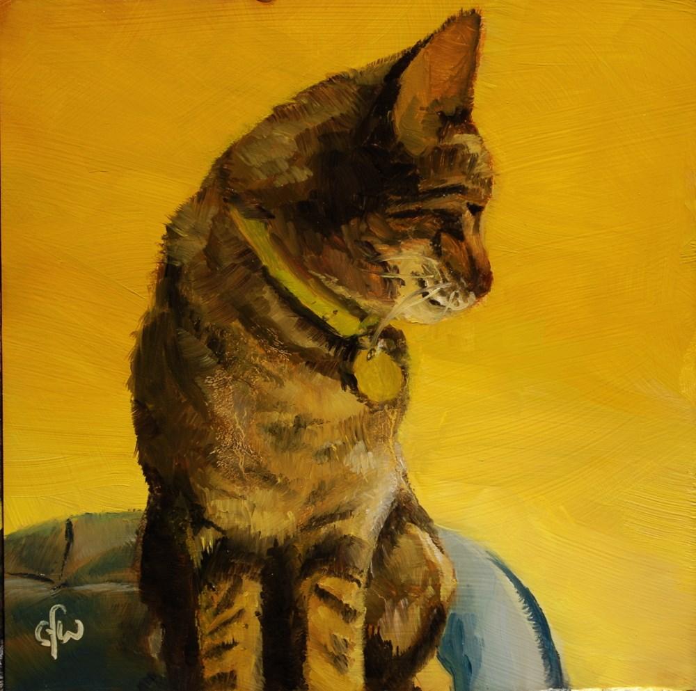 """Zipper on a Footstool"" original fine art by Gary Westlake"
