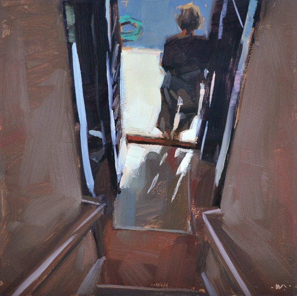 """Pam in the Doorway"" original fine art by Carol Marine"