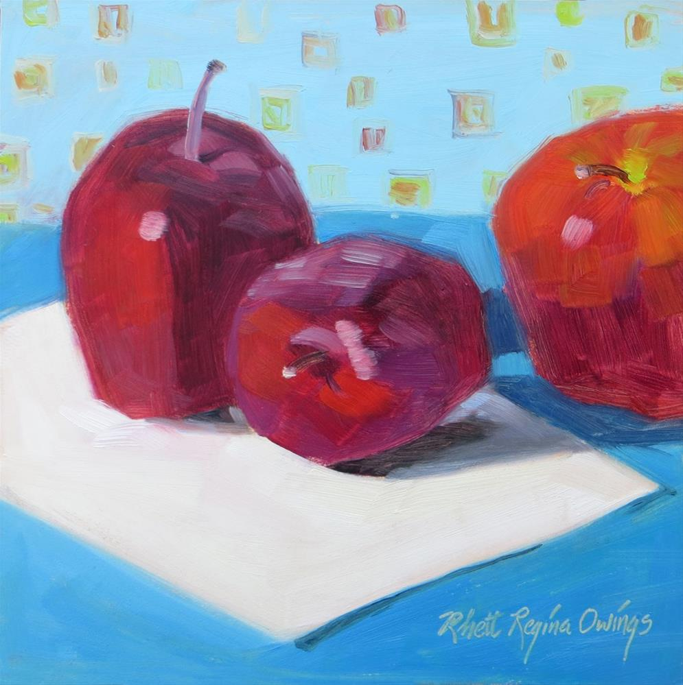 """Two and Half Apples"" original fine art by Rhett Regina Owings"