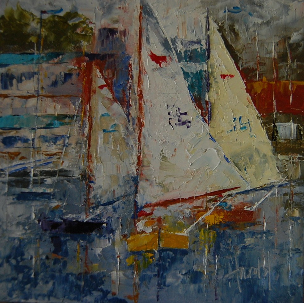 """Sabots at Balboa"" original fine art by Deborah Harold"