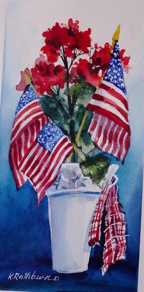 """""""Happy Fourth of July"""" original fine art by Kathy Los-Rathburn"""