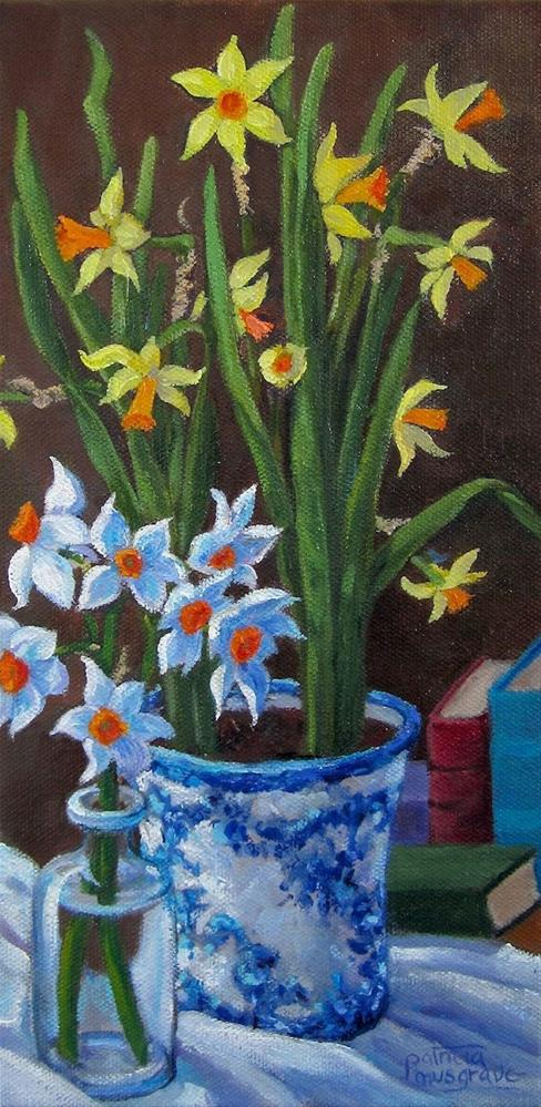 """""""Spring Flowers"""" original fine art by Patricia Musgrave"""
