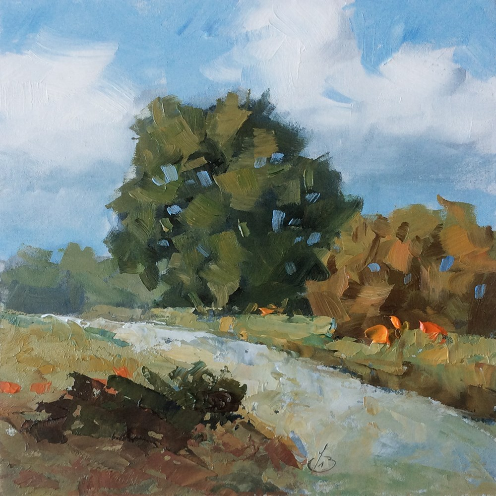"""""""ON THE ROAD AGAIN"""" original fine art by Tom Brown"""