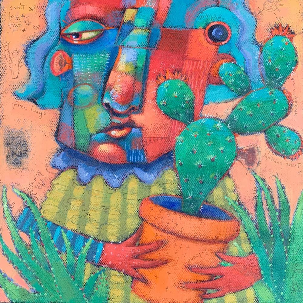 """Thorny Encounter Of The Prickly Kind"" original fine art by Brenda York"
