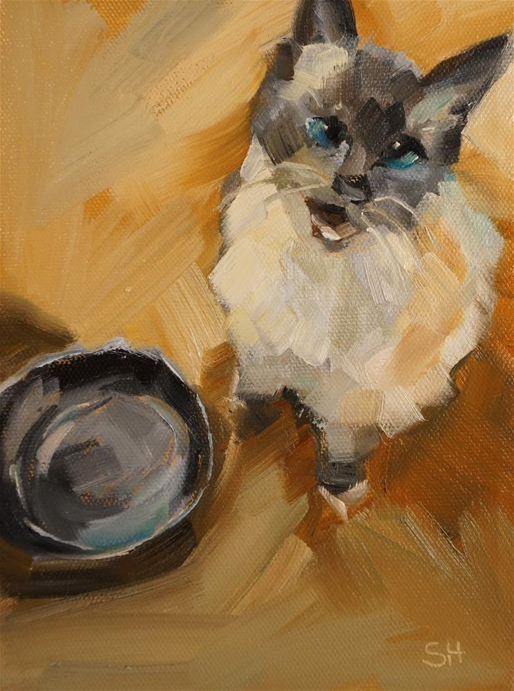 """Mookie"" original fine art by Sue Harrell"