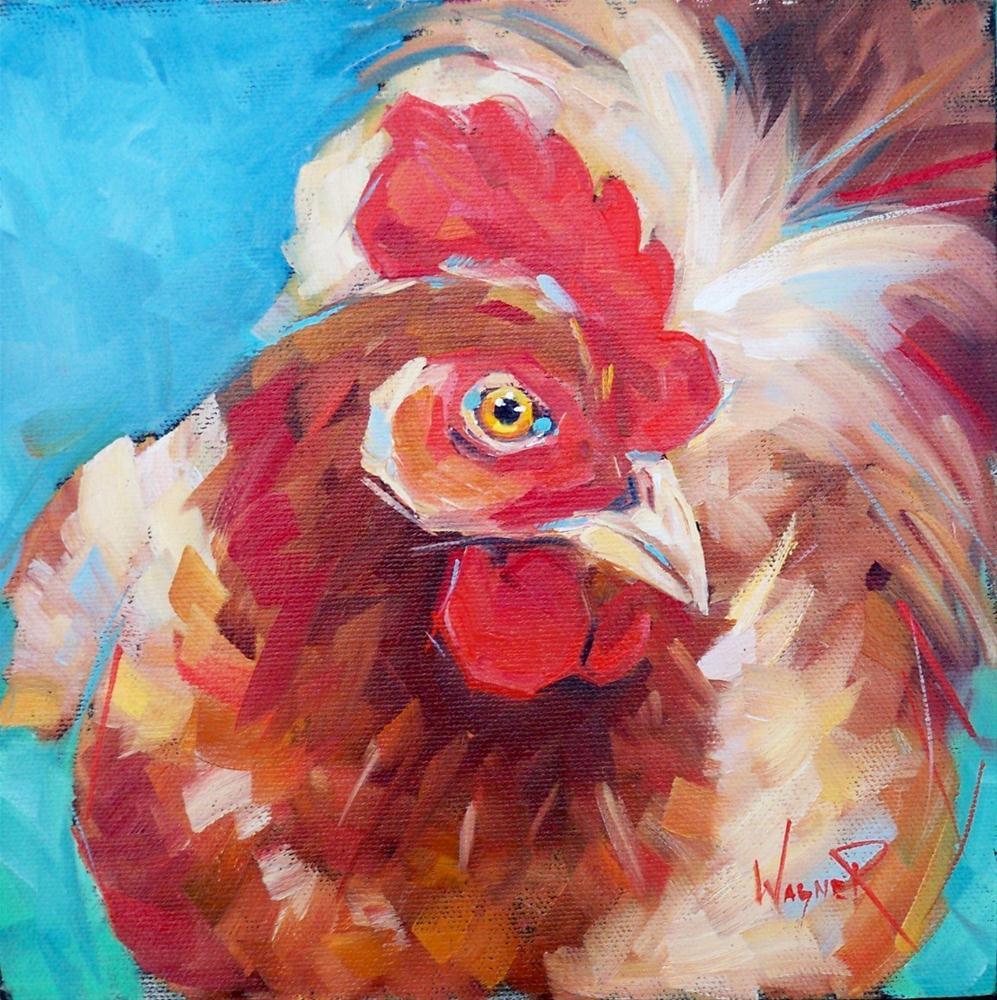 """LOVELY CHICKEN by OLGA WAGNER"" original fine art by Olga Wagner"