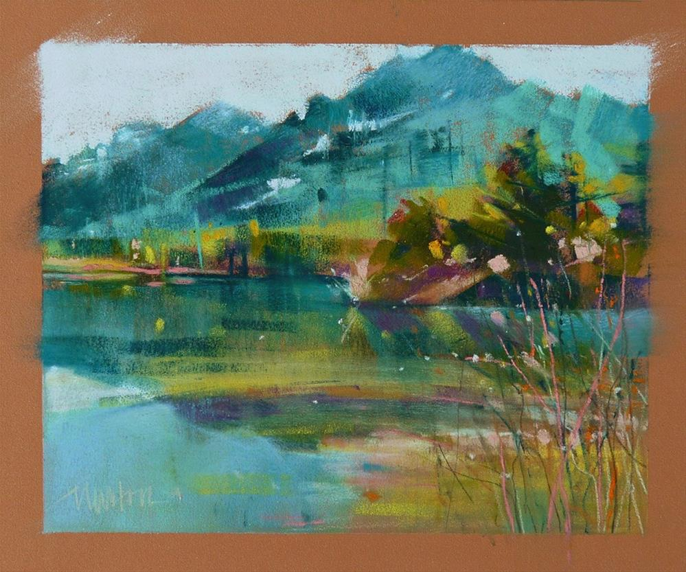 """Study - Spring at Gold Creek Pond"" original fine art by Barbara Benedetti Newton"