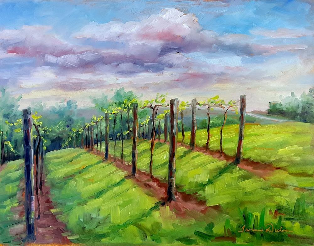 """Light in the Vineyard"" original fine art by Tammie Dickerson"
