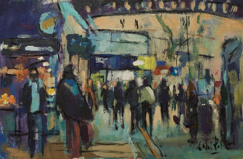 """""""Outside London's Victoria Station"""" original fine art by Andre Pallat"""