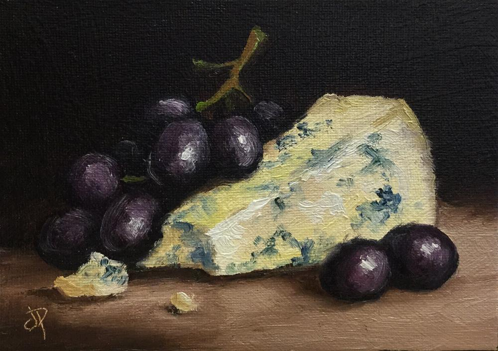 """""""Cheese and grapes"""" original fine art by Jane Palmer"""