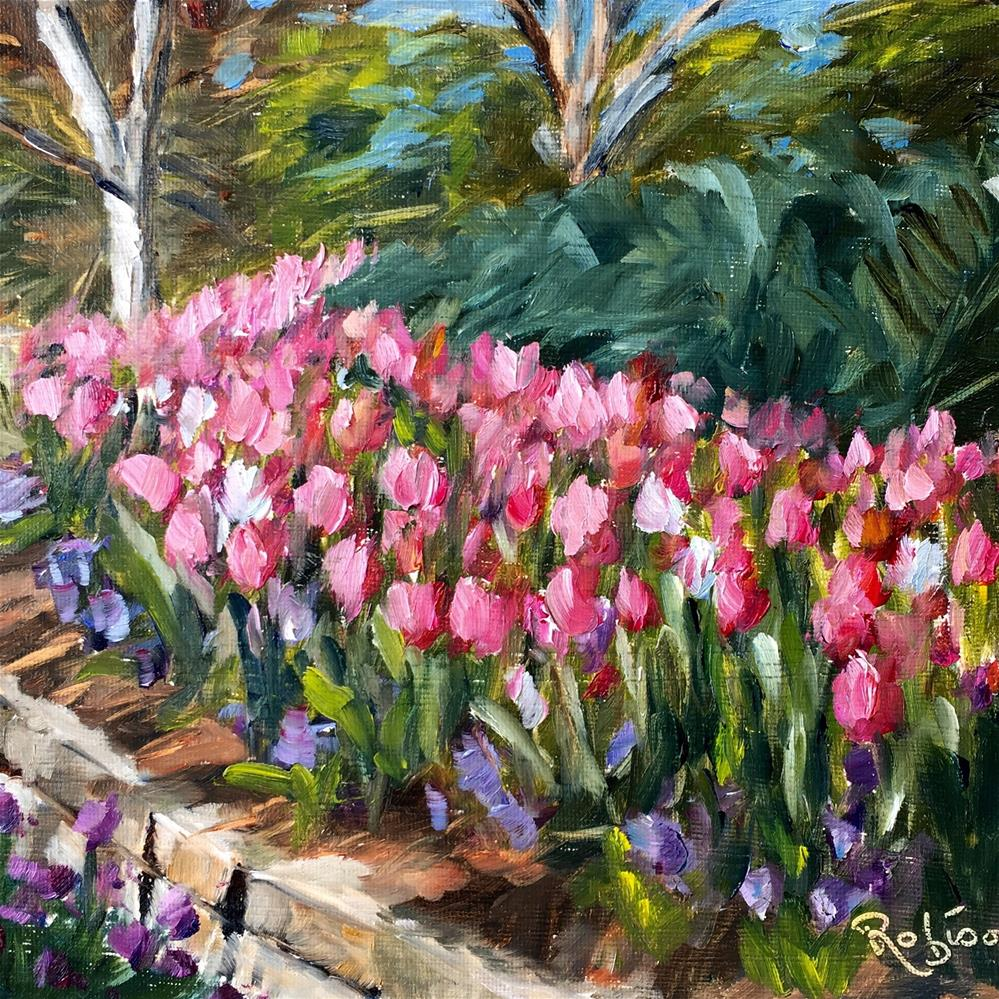 """Curve of Tulips"" original fine art by Renee Robison"