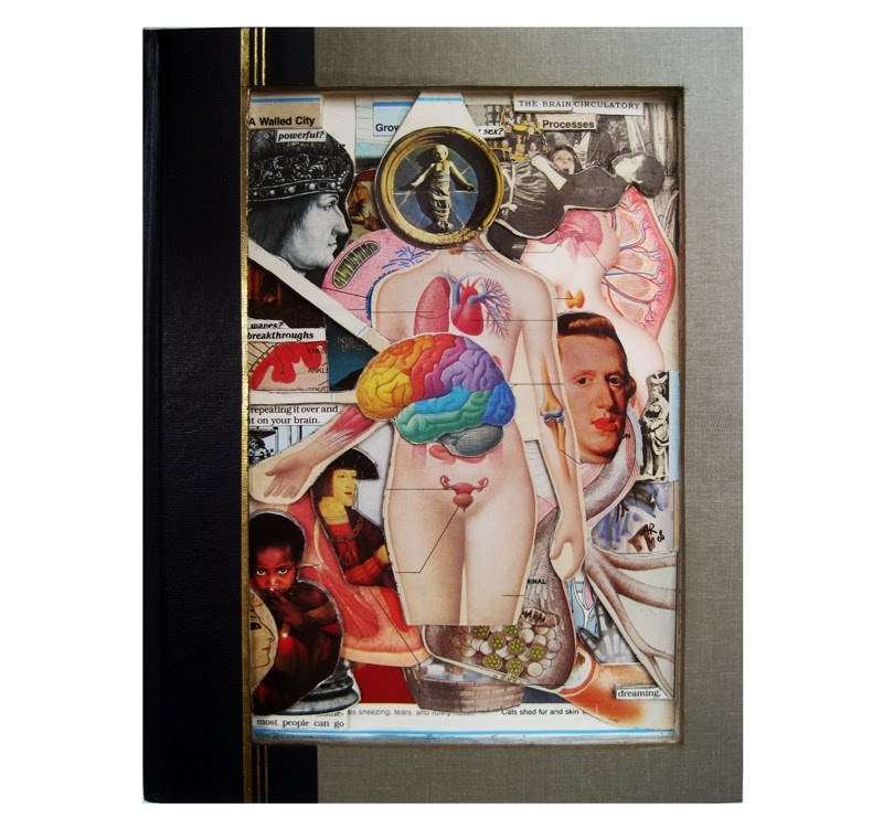 """Human Body - Book Art"" original fine art by Linda Apple"