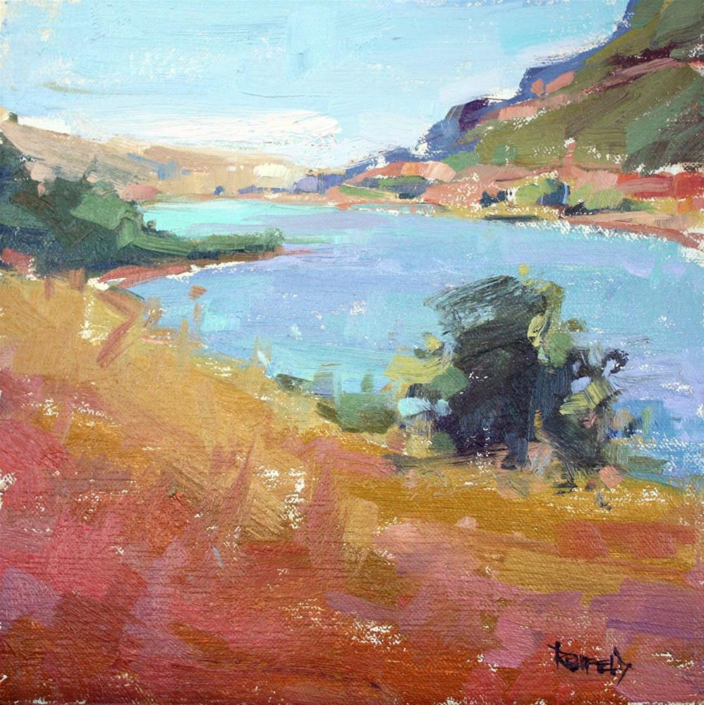 """Columbia River at Meyer State Park"" original fine art by Cathleen Rehfeld"